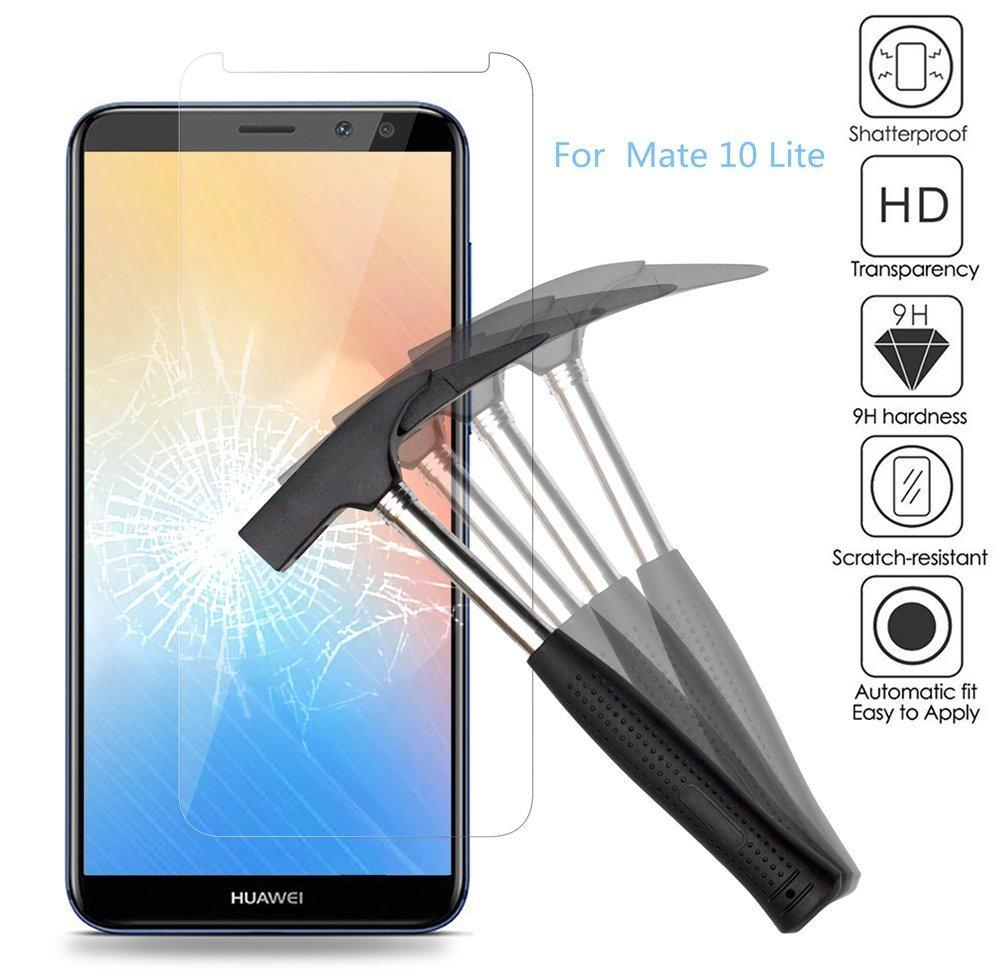 huawei mate 10 lite tempered glass screen protector high definition 9h 2 5d oem. Black Bedroom Furniture Sets. Home Design Ideas