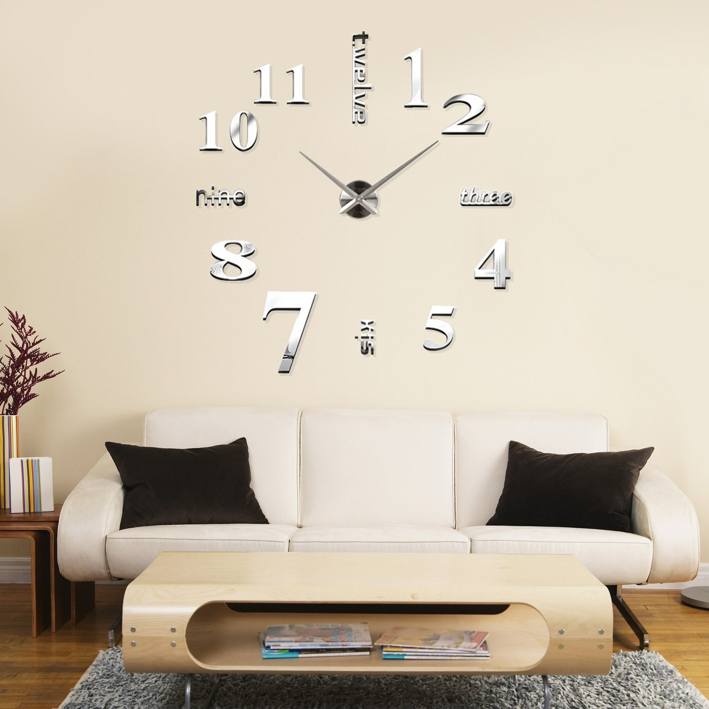 ά ά 3d ό Modern Large 3d Wall Clock