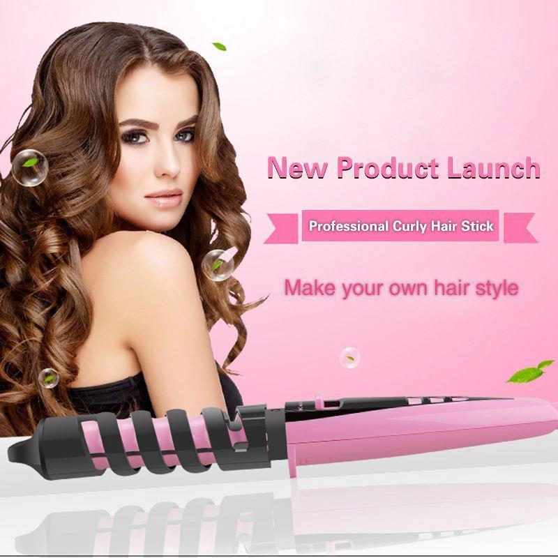 Kemei KM-1215 Pink Συσκευή Μαλλιών για Μπούκλες με Κεραμική Επίστρωση 2603bccfbf4